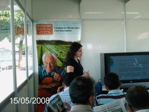Durante a divulgação do programa